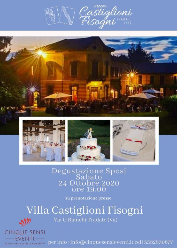 Degustazione sposi Villa Castiglioni Fisogni